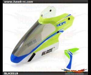 E-Flite mCP X Complete Green Canopy with Vertical Fin